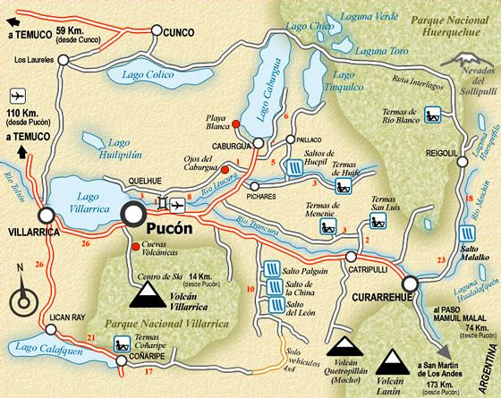 mapa pucon