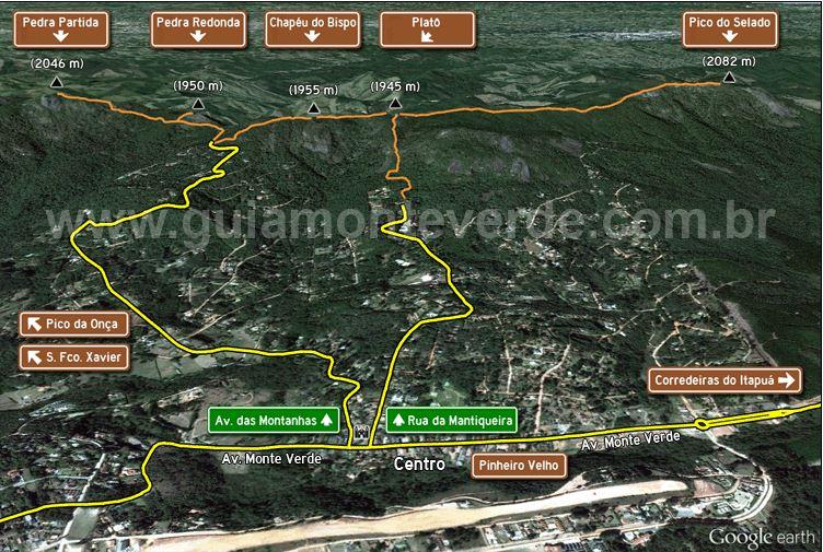 Trilhas monte verde mapa